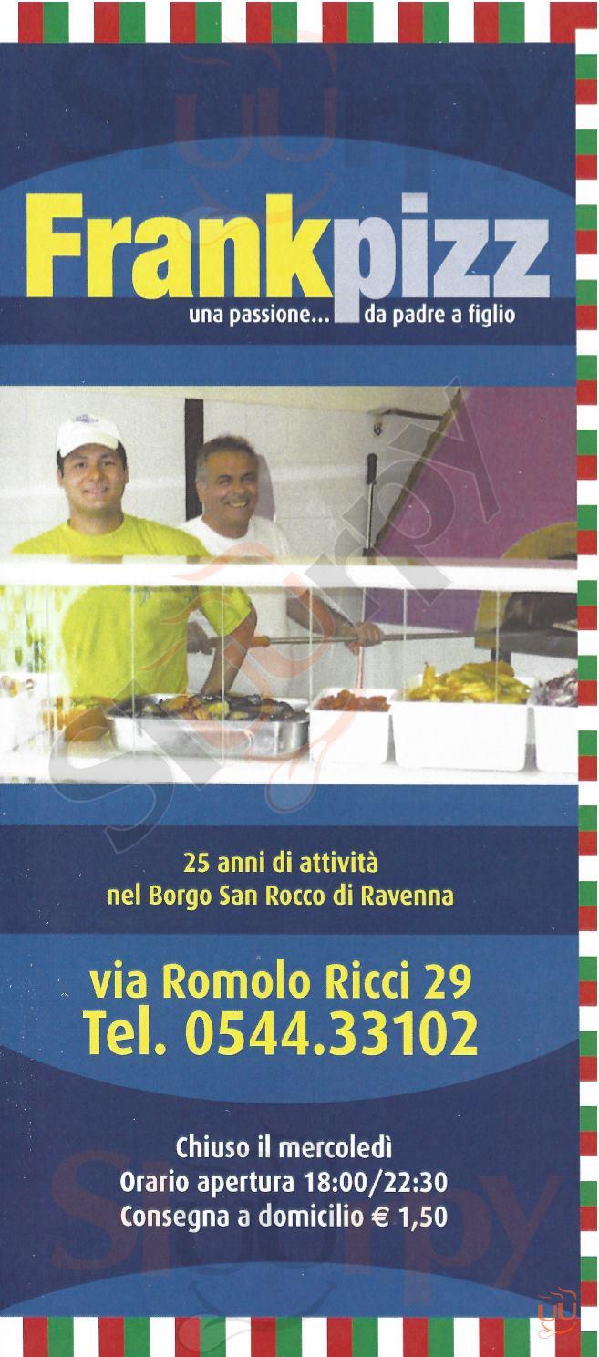 FRANKPIZZ Ravenna menù 1 pagina