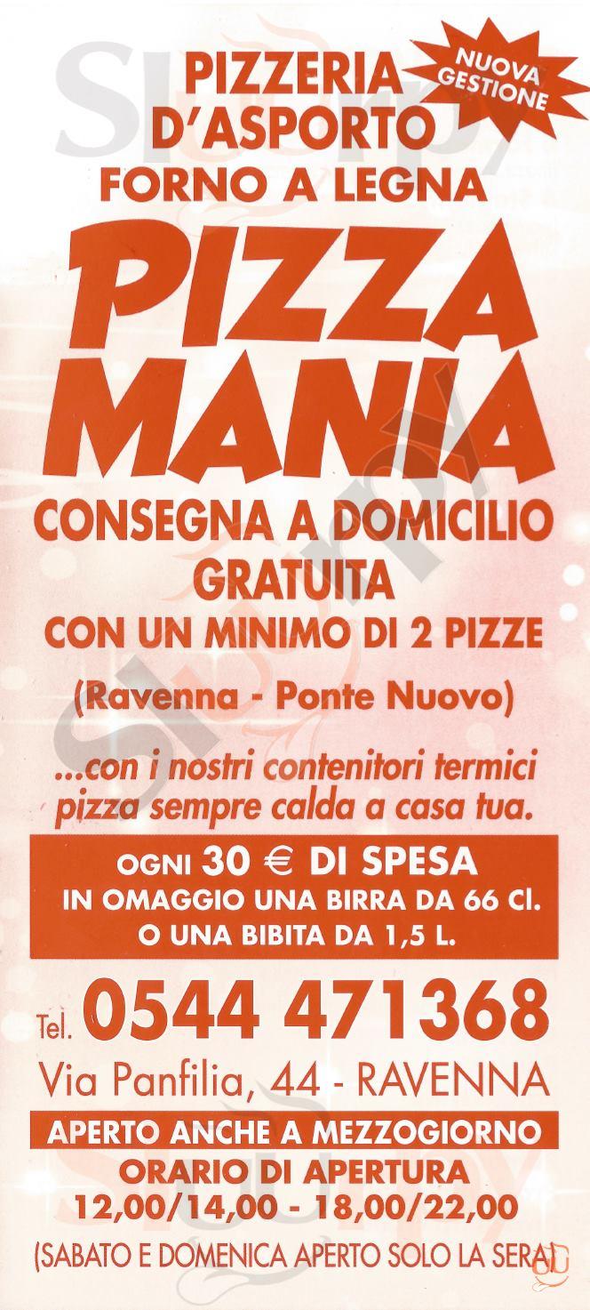 PIZZA MANIA Ravenna menù 1 pagina