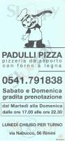 Menu PADULLI PIZZA