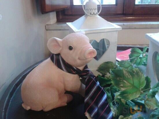 eccolo: il maialino con la cravatta!!!