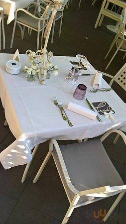Allestimento cena presentazione chef Ferrara