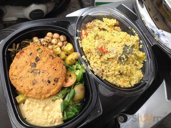 Hamburger di verdure e Quinoa alle verdure