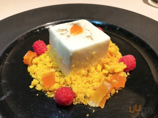 Cheesecake mousse, sable bretone e composta al pompelmo