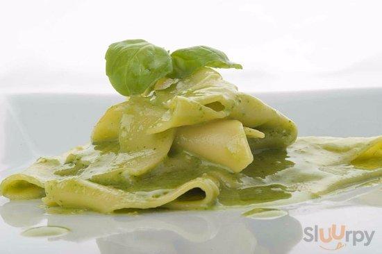 Mandilli de saea al Pesto