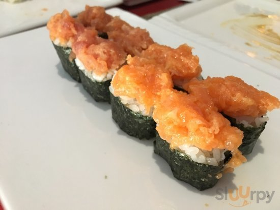 Spicy tuna\/salmon GUNKAN