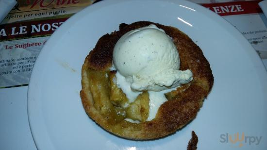 tortino mele e gelato