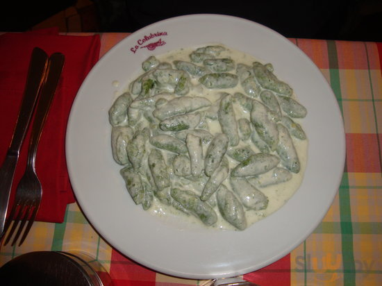 gli gnocchi verdi con gorgonzola