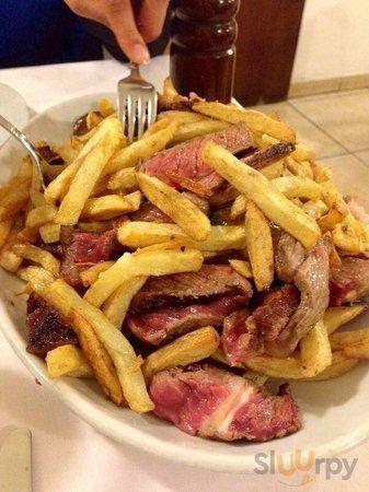 Tagliata con patate fritte