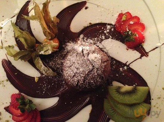 chocolate souffle dessert