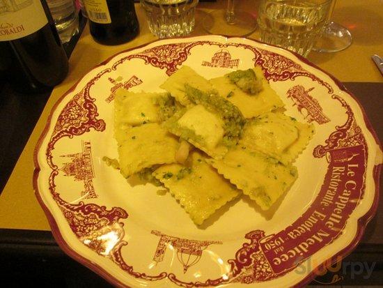ravioli con asparagi e gamberi