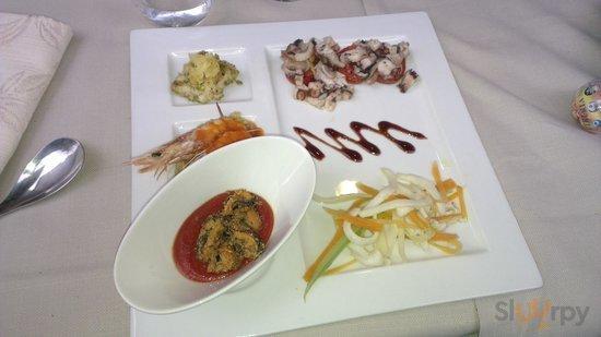 Fish selection of antipasto