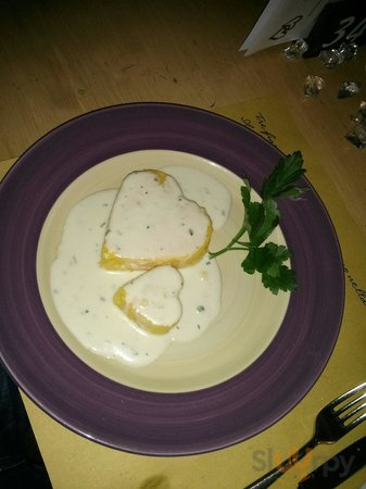 Cuore di polenta in crema tartufata