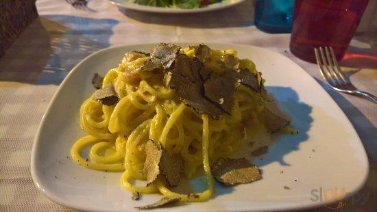 Spaghetti Carbonara mit Trüffel
