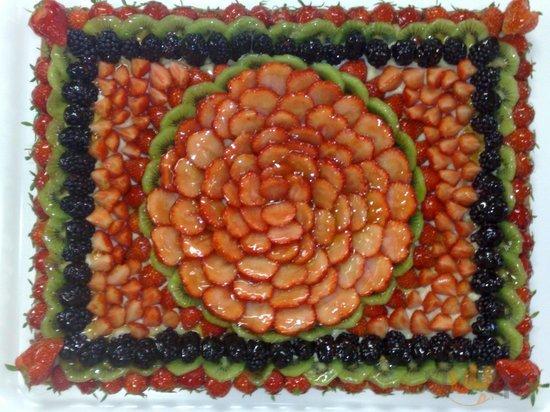 Torta di frutta per matrimonio