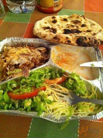 piatto kebab da asporto