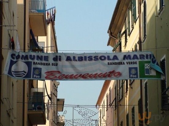 Albissola Marina Welcome Banner