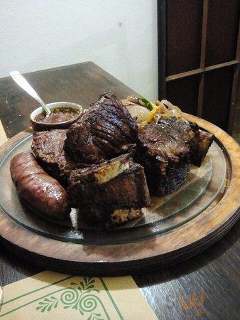 Asado, Entrana e Tapa de Asado (Picanha) con verdure e salsa