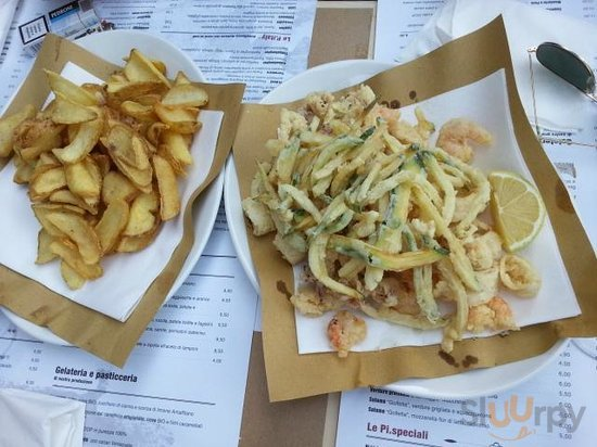 Frittura di pesce con patate