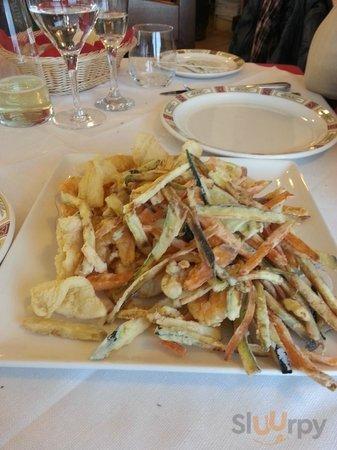 fritto di mare e verdure