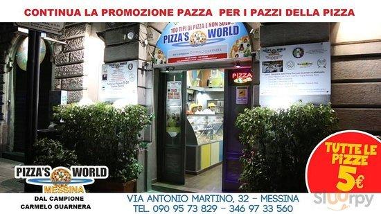 PIZZA'S WORLD MESSINA CON IL CAMPIONE CARMELO GUARNERA CONTINUA LA PROMOZIONE PAZZA PIZZE \u20ac 5.00
