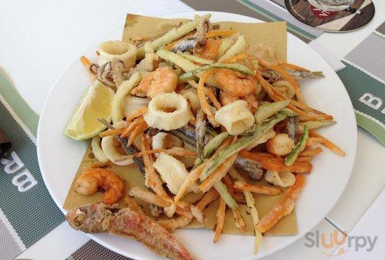 Fritto di pesce e verdure