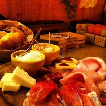aperitivo delicatessen, cheeses,mortadella,mushrooms,ricotta and All the Best sicilian foods