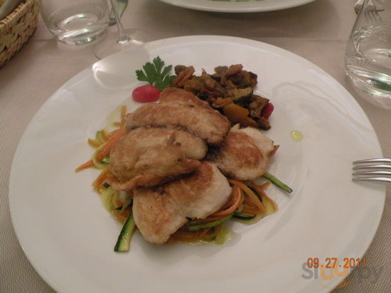 Amberjack on Vegetables