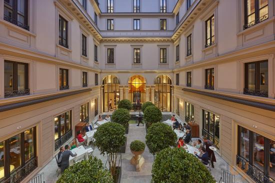 Seta Restaurant Courtyard at Mandarin Oriental, Milan