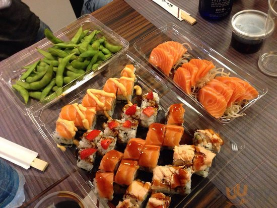 Edamame, Uramaki, Shabu roll