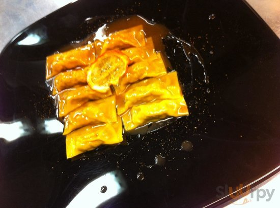 Pansotti d'anatra all'arancia