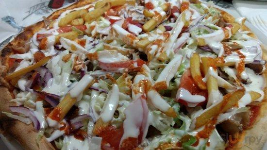 Pizza Kebab completa