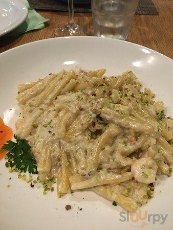 caserecce pistacchio e gamberetti