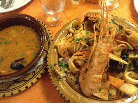 La nostra specialità Cous Cous  di pesce