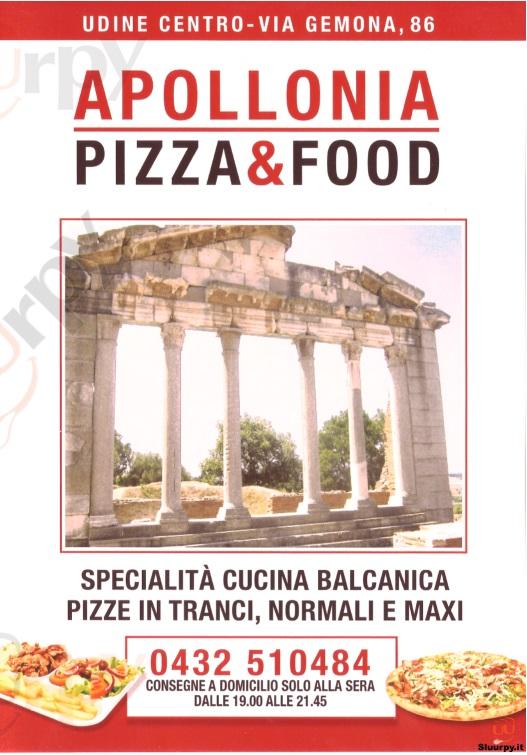 APPOLLONIA PIZZA E FOOD Udine menù 1 pagina