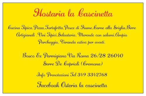 Hostaria La Cascinetta, Gerre de' Caprioli