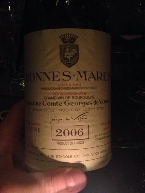 Domaine Comte Georges de Vogüé Bonnes-Mares Grand Cru 2006