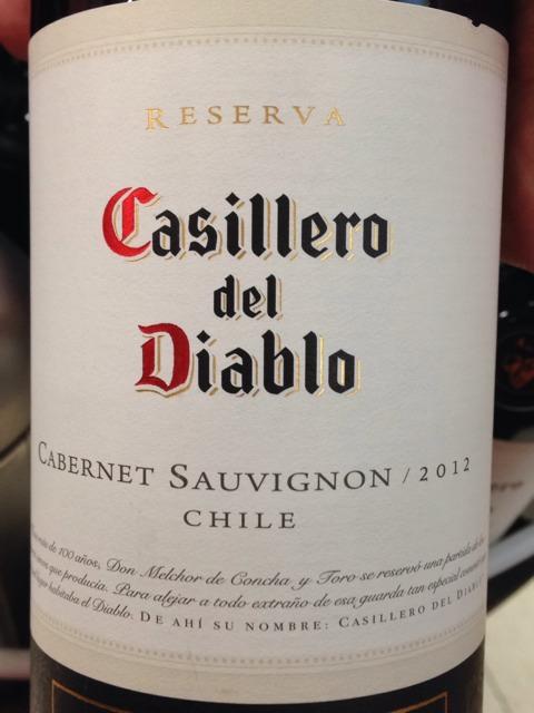 Casillero del Diablo Reserva Cabernet Sauvignon 2012
