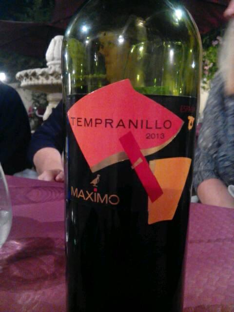 Maximo Tempranillo 2013