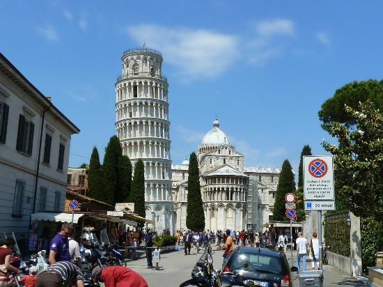 Walking in Pisa