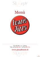 Menu FONZIE PIZZA