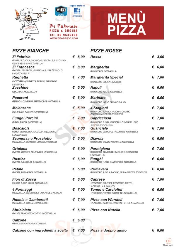 ZI FABRIZIO Velletri menù 1 pagina
