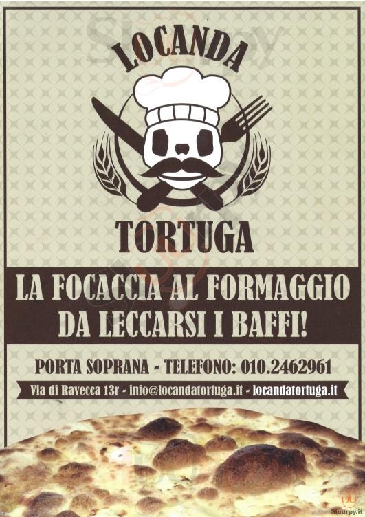 LOCANDA TORTUGA Genova menù 1 pagina