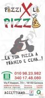 Menu PAZZI X LA PIZZA