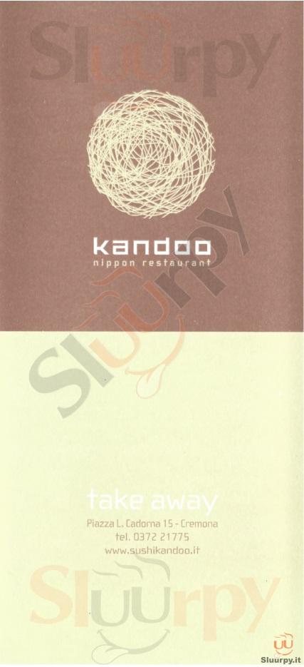 KANDOO Cremona menù 1 pagina