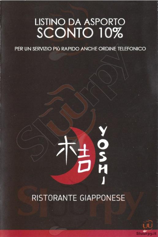 YOSHI Cremona menù 1 pagina
