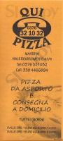 Foto del menù di QUI PIZZA