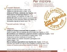 Menu Joe Cipolla, Via Vigevano