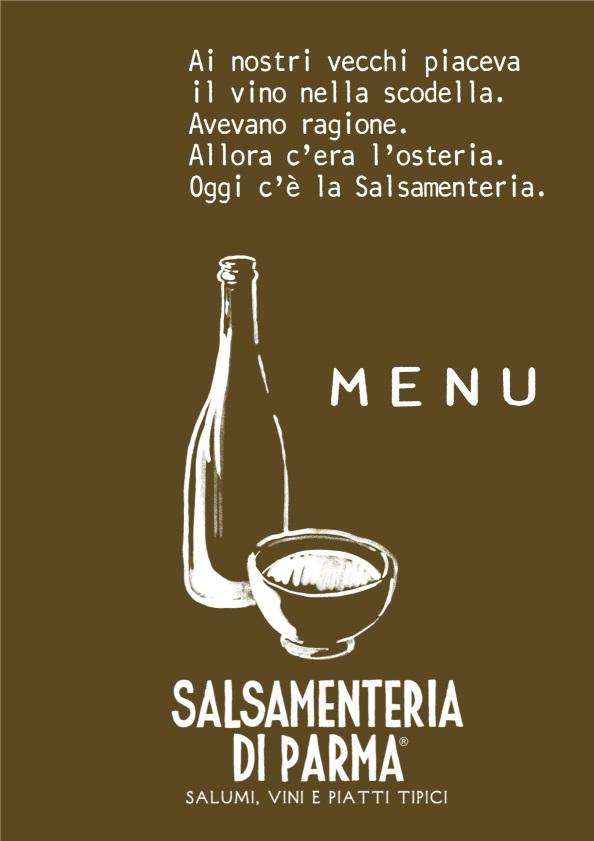 SALSAMENTERIA DI PARMA - San Babila Milano menù 1 pagina