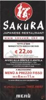 Menu SAKURA - Pesaro