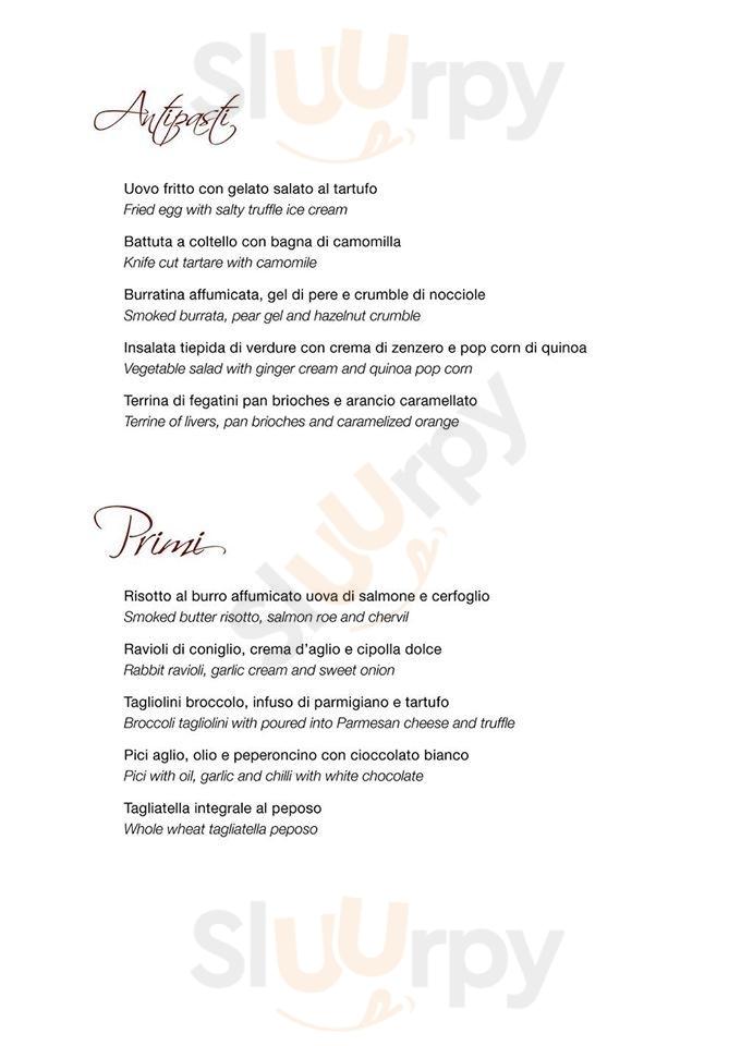 Bistrot31 Arezzo menù 1 pagina
